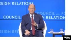 克里斯·庫恩斯參議員在外交關係理事會,2019年5月14日。