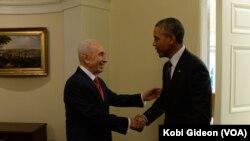 Шимон Перес и Барак Обама