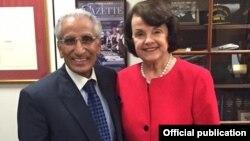 طارق فاطمی امریکی سینیٹر ڈائین فائنسٹائن کے ساتھ واشنگٹن میں