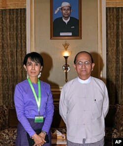 آنگ سان سوچی اور صدر تھیئن سیئن کے درمیان گزشتہ ماہ مذاکرات ہوئے تھے۔