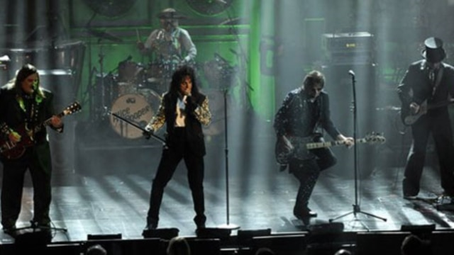Alice Cooper and his band performs at the Rock and Roll Hall of Fame induction ceremony last week in New York