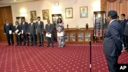 مالدیپ کی نئی کابینہ سے حلف لینے کی تقریب