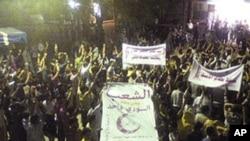 叙利亚示威者举行反对总统阿萨德的抗议