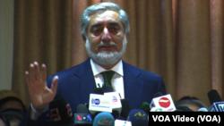 Capres Afghanistan Abdullah Abdullah Rabu (18/6) menyerukan penghentian penghitungan suara.