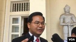 Ông Chin Malin, Người phát ngôn Bộ Tư pháp Campuchia.