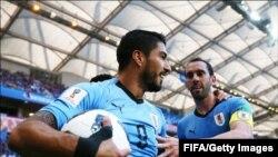 یوروگوائے نے سعودی عرب کو فٹ باب ورلڈ کپ میں ایک گول سے ہرا دیا۔ 20 جون 2018