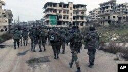 Бойцы сирийских правительственных войск. Латакия, Сирия