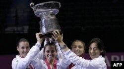 Италия – победитель Кубка Федерации по теннису в Сан-Диего