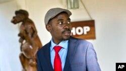 Nelson Chamisa wanda ya kalubali sakamakon zaben a kotu