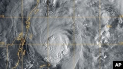 US Navy Research Laboratory satellite image shows Hurricane Paula, 12 Oct 2010
