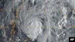 US Navy Research Laboratory satellite image shows Hurricane Paula, 12 Oct 2010