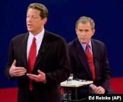 Rais wa zamani George W. Bush na Makamu wa Rais wa zamani Albert Arnold Gore