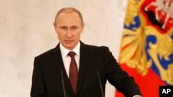 ທ່ານ Putin ກ່າວຄຳປາໄສ ກ່ຽວກັບເລື່ອງໄຄຣເມຍ ຂອງຢູເຄຣນ
