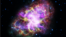 This composite image of the Crab Nebula, a supernova remnant, was assembled by combining data from five telescopes spanning nearly the entire breadth of the electromagnetic spectrum: the Karl G. Jansky Very Large Array, the Spitzer Space Telescope, the Hubble Space Telescope, the XMM-Newton Observatory, and the Chandra X-ray Observatory.