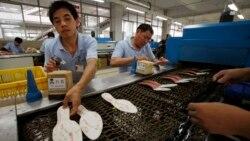 북한 국제상품전...중국 제화업계 고전