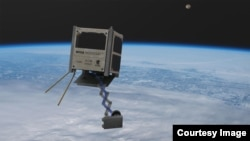 This illustrated image depicts the WISA Woodsat experimental satellite, which is expected to be launched into orbit later this year. (Photo Courtesy: Arctic Astronautics)