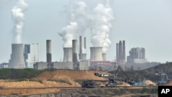 Mina de carbón abierta en Alemania. Las emisiones de dióxido de carbono han llegado a niveles récord.