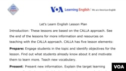 Lesson Plan - Let's Learn English Lesson 1