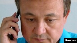 FILE - Chinese Uighur activist Dolkun Isa, seen in this July, 6, 2015 photo, is chairman of the World Uighur Conference, which advocates human rights and democracy.