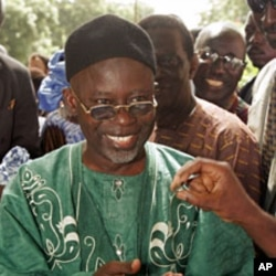 Gambian opposition presidential candidate Ousainou Darboe (File)