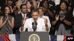 Tổng thống Obama nói chuyện tại Ðại học Mesquite ở Texas, kêu gọi Quốc hội thông qua dự luật về việc làm