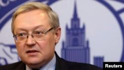 Wakil Menteri Luar Negeri Rusia Sergei Ryabkov dalam sebuah konferensi pers di kantor Kemenlu Rusia di Moskow (Foto: dok).