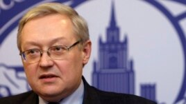 Russia's Deputy Foreign Minister Sergei Ryabkov speaks during a news briefing in the main building of Foreign Ministry in Moscow. (File photo)