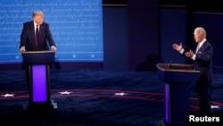 特朗普和拜登激烈爭辯。