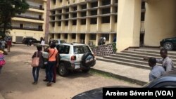 Bayardelle, l'université Marien Ngouabi, à Brazzaville, le 18 janvier 2017. (VOA/Arsène Séverin)