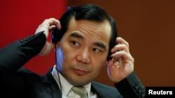 安邦公司董事长吴小晖在北京参加中国发扎论坛会议(2017年3月18日)