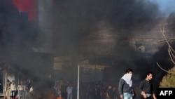 Kuzey Irak'ta Barzani Protesto Edildi