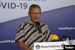 Mantan juru bicara pemerintah untuk penanganan Covid–19 Achmad Yurianto. (Foto: @BNPB_Indonesia)