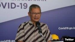 Juru Bicara Pemerintah untuk Penanganan COVID–19 Achmad Yurianto. (Foto: @BNPB_Indonesia)