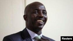 Samson Siasia à Abuja le 4 novembre 2010.
