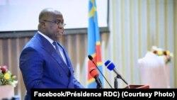 Félix Tshisekedi à Kinshasa en RDC, le 11 juillet 2019.