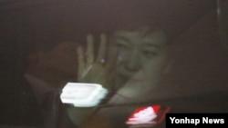 韩国前总统朴槿惠离开了总统府青瓦台(2017年3月12日)