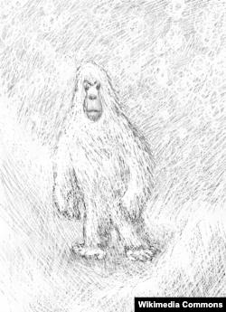 Sosok khayalan Yeti dari legenda Himalaya (Foto: ilustrasi).