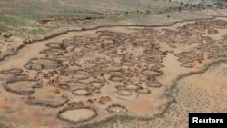 Foto udara daerah kering di Turkana, Kenya utara (foto: dok).