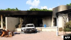 U.S. embassy compound following overnight attack, Benghazi, Sept. 12, 2012.