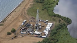 An aerial view of an oil exploration site in Bulisa district, approximately 244 km (152 miles) northwest of Kampala in this undated handout photo from Tullow Oil Uganda, received by Reuters July 4, 2012.