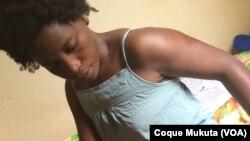 Laurinda Gouveia - activista angolana agredida pela polícia nacional, em Luanda nas manifestações de 23 de Novembro 2014.