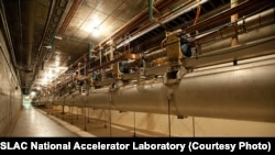 The SLAC National Accelerator Laboratory's linear particle accelerator consists of 3.22 kilometers of copper cavities. (SLAC National Accelerator Laboratory)