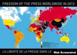 2013 Yılında Dünyada Basın Özgürlüğü
