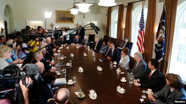 Tổng thống Obama và các nhà lập pháp hàng đầu của 2 đảng thảo luận về vấn đề Syria, 3/9/13