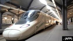 Kituo cha treni ya mwendo kasi cha Al-Haramain kilichoungua huko Saudi Arabia