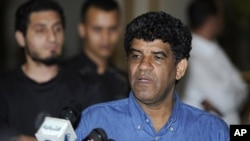 前利比亚领导人卡扎菲的情报主管赛努西2011年8月21号在的黎波里(资料照)