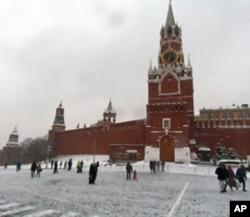 普京有时使用这个大门进入克里姆林宫
