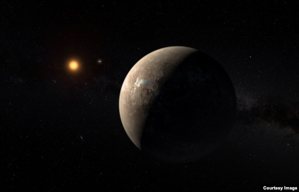 Artist's impression of the planet orbiting Proxima Centauri. Courtesy of ESO/G. Coleman.