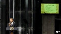 Барак Обама представляет «списк текущих дел» для Конгресса. Олбани, Нью-Йорк