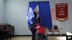 24일 공화당 경선이 실시되고 있는 펜실베니아주 투표소.
